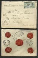 LAC / Lettre Chargée 350F / 45c Merson / ST JEAN DE COLE 11.09.1907 - DORDOGNE >>> LE PUY - 1877-1920: Semi-Moderne
