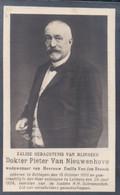 Doodsprentje Met Foto Dokter Pieter Van Nieuwenhove (x Van Den Broeck ) ° Zottegem Sottegem 1856 - Lebbeke 1924 - Santini