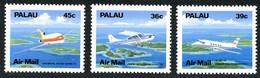 Palaos Palau 1989 Local Aircraft Cessna Stationair, Embraer Bandeirante, Boeing 727 (YT PA 18, Mi 278, SG 261) - Airplanes