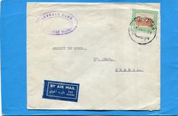 MARCOPHILIE-lettre-SOUDAN-  OTTOMAN Bank   - Cad 1953-OMDURMAN> FRANCE--stamp - South Sudan