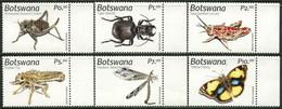 BOTSWANA 2019 Insects Beetles Bugs Grasshopper Butterfly Butterflies Animals Fauna MNH - Mariposas