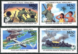 Palaos Palau 1990 US Army In Peleliu Consolidated Liberator Bomber (YT 361, Mi 402, SG Gibbons 387) - 2. Weltkrieg