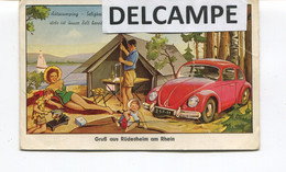 VW Coccinelle - Carte Système -Gruß - Gruss Aus Rüdesheim Am Rhein - Stamp 5-9-1959 - (1 Pli) - Sin Clasificación