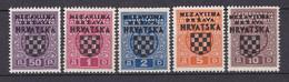 Kroatien - Deutsche Besetzung - Portomarken - 1941 - Michel Nr. 1/5 - Postfrisch - 50 Euro - Bezetting 1938-45
