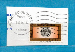 Italia ° - Anno -2006 -  € 0,60 - Posta Prioritaria Con Millesimo,  Unif. 2983. - 2001-10: Oblitérés