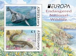 2021 Europa: Endangered National Wildlife, Mini Sheet, Guernsey, MNH - Guernsey