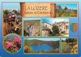 48 - Lozère - Multivues - Vaches - Blasons - Fleurs - CPM - Voir Scans Recto-Verso - Andere Gemeenten