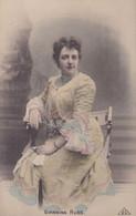 GIANNINA RUSS. ARTISTE FÉMININE. COLORISEE. CARTE POSTALE. CIRCA 1900's, NON CIRCULEE.- LILHU - Artistes