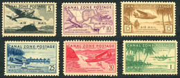 Panama Canal Zone 1939 Douglas DC-3 (DC 3), Sikorsky S-42 Clipper Flying Boat Hydravion (YT PA 11, SG Gibbons 143) - Airplanes