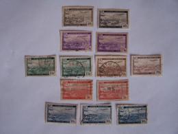 ALGERIE 1946  13 X SURVOL DE LA RADE D'ALGER  10 OBLITERES Voir CACHETS ET 3 NEUFS (10c, 25c,40c) - Used Stamps