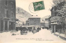 Morez Traineau Hiver Neige Place Du Marché éd Paget ( Notée Payet ) - Morez