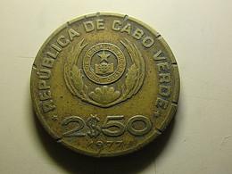 Cabo Verde 2 1/2 Escudos 1977 - Cap Verde