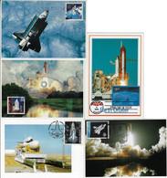 United States 1989 / 2000 5 Maximum Card NASA Space Shuttle Program Spacecraft Challenger Atlantis Columbia Discovery - Stati Uniti