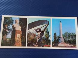 North Caucasus, Russia, Chechnya. GROZNYI Capital. Fallen Firemen Monument. 1978.  Long Format - Chechnya