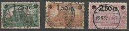 Deutsches Reich 1920 Mi. 116-118 Gebraucht. 2,50M Schön Central Gestempelt 28.8.22 - Usati