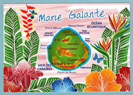 CP Guadeloupe - Marie Galante - La Carte - Other