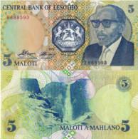 LESOTHO, 5 Maloti, 1989, P10, UNC - Lesotho