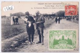 PONT-HUBERT- PONT-SAINTE-MARIE- CIRCUIT DE L EST D AVIATION- LE LT MAYOLLES ET LE CTE DE LAMBERT- ETAPE PARIS-TROYES - Autres Communes