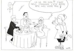 CPSM  ILLUSTRATEUR   LE  JOLLY   /  Où Donc Est Passée La Fève? - Andere Illustrators