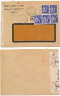SEINE INFERIEURE ENV 1941 ROUEN GARE OMEC SUR PAIX + CENSURE ALLEMANDE - 1921-1960: Modern Period