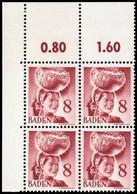 1948, Französische Zone Baden, 32 Ecke, ** - French Zone