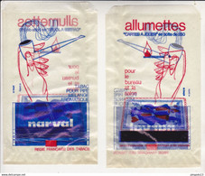 Au Plus Rapide Sachet D'emballage Publicité Allumettes Carte à Jouer Tabac Narval Pipe Excellent état - Advertising