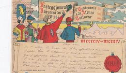 TORINO-FESTEGGIAMENTI UNIVERSITARI 1904-CARTOLINA VIAGGIATA IL 20-4-1904- - Andere