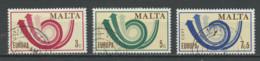 Malte - Malta 1973 Y&T N°474 à 476 - Michel 472 à 474 (o) - EUROPA - Malta
