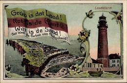 CPA Nordseeinsel Helgoland, Leuchtturm, Totalansicht, Janssen's Gasthaus - Other