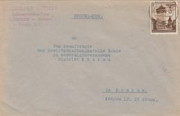 GG: Drucksache Zakopane An Bewirtschaftungsstelle Kohle Krakau, Portogerecht - Occupazione 1938 – 45