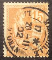 117 ° 39 Marseille Ligne D'Oran  Mouchon 15 C Orange Oblitéré  17 H 20/11/1902 - 1877-1920: Semi-Moderne