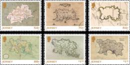 2021  Historic Jersey Maps - Stamp Set, Jersey, MNH - Jersey
