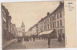 Menen - Rijselstraat (gelopen Kaart Van Voor 1900 Met Zegel) - Menen