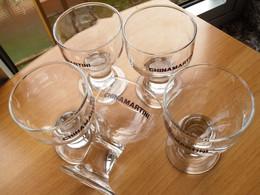 5 BICCHIERI A CALICE DELLA CHINA MARTINI .- - Glasses