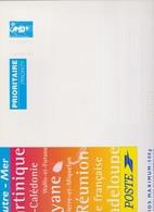 FRANCE 1 Entier Postal Enveloppe N°YT 2806-E10 1997 Marianne De Briat Bleu DOMTOM Enveloppe Cartonnée 328*248 Pour 500 G - Listos A Ser Enviados: Otros (1995-...)