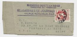 N° 638 SEUL PETITE BANDE COMPLETE PARIS 1945 TARIF 2EME PEU COMMUN - 1944 Gallo E Marianna Di Algeri