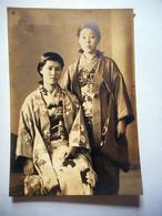 PHOTO Japon 日本 2 JEUNES FILLES JAPONAISES TENUE TRADITIONNELLE - Old (before 1900)