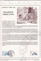 Document 1er Jour Journée Du Timbre 1989 Diligence Paris - Lyon - Cartas