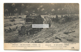 Ypres - Revictualling Convoy Under A Shower Of Shells - First World War Postcard - Guerra 1914-18