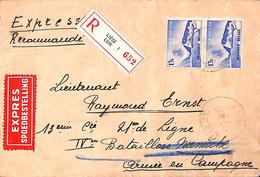 Express Recommandé Liège Pour Lieutenant Bataillon Namèche, Armée En Campagne 1939 - Unclassified