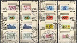 ZAIRE - N° 1050/1065 (oblitérés / Used) - Exposition Philatélique Fibelza - 1980-89: Used