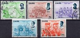 ZAIRE - N° 1066/1070 (oblitérés / Used) - 150e Anniversaire De L'Indépendance De La Belgique - 1980-89: Used