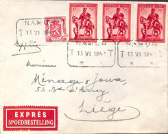 Expres Spoedbestelling Namur Liège Juin 1942 - Unclassified