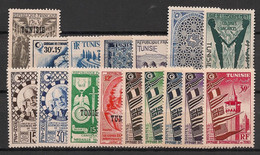 Tunisie - 1951-53 - Année Complète - Du N°Yv. 349 Au 364 - Neuf  Luxe ** / MNH / Postfrisch - Unused Stamps