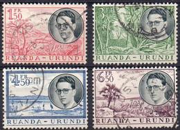 RUANDA-URUNDI - N° 196/199 (oblitérés / Used) - Voyage Royal - 1948-61: Used