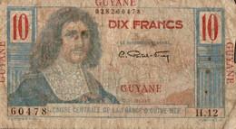 BILLET GUYANE 10 FRANCS COLBERT - French Guiana