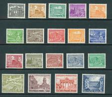 Berlin Mi 42 - 60 **  Postfrisch ,  Prüfgarantie  ,  Einwandfrei - Unused Stamps