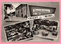 Ristorante SASSOFORTINO Chalet Da Momo - Vedute - Jukebox Cartolina 1963 Viaggiata - Hotel's & Restaurants