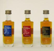 3 Mignonnettes De Cognac P.H. DE POLIGNAC - VS - VSOP - XO - Miniatures