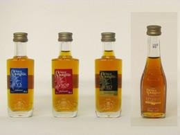 4 Mignonnettes De Cognac P.H. DE POLIGNAC - VS - VSOP - XO - RESERVE - Miniatures